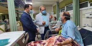 تصویر بازدید سرزده نماینده کرج از مرکز آموزشی درمانی امام علی (ع)